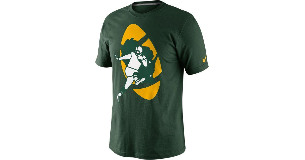 superior quality ab590 5bdaf Nike Men'S Green Bay Packers Retro Oversized Logo T-Shirt for men