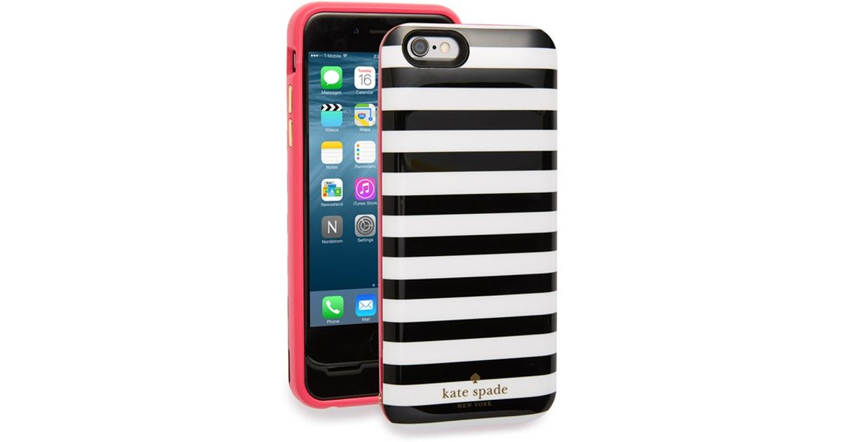 reputable site f2108 9eb69 kate spade new york Black Iphone 6 & 6s Charging Case