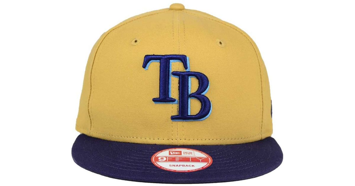 reputable site 7ecb5 6b38a ... wholesale lyst ktz tampa bay rays classic canvas 9fifty snapback cap in  blue for men 8523f