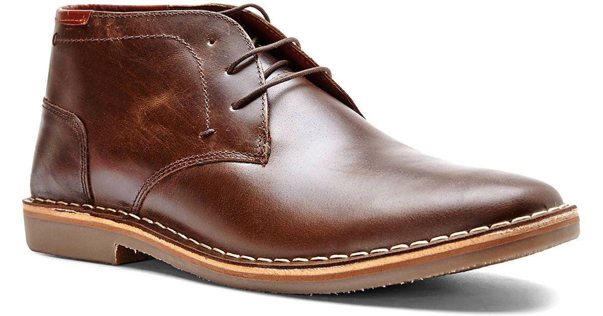 9b9e5e9c38d Steve Madden Dark Brown Hestonn Chukka Boots for men