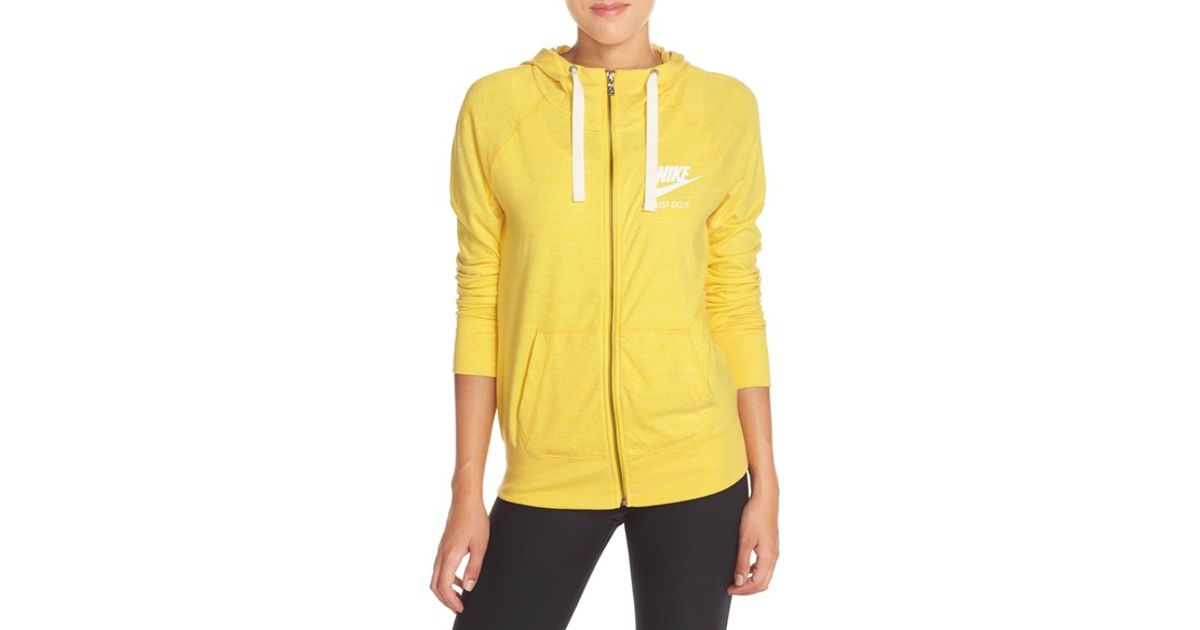 Nike Yellow \u0027gym Vintage\u0027 Front Zip Hoodie