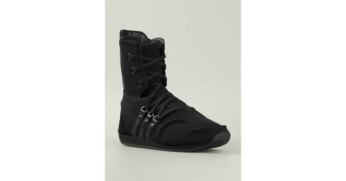 Leather Boxing Boots in Black