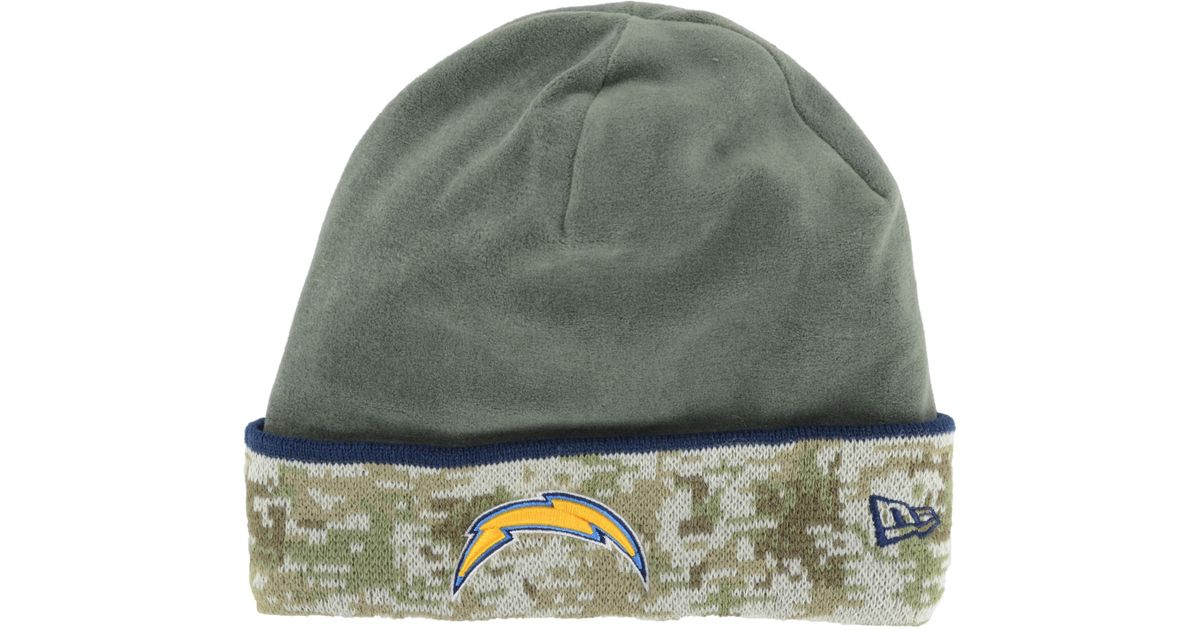 a2222b0d17e Lyst - Ktz San Diego Chargers Salute To Service Knit Hat in Green for Men