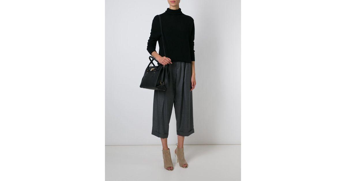 58e7480ee293 Lyst - Ferragamo Lotty Bag in Black