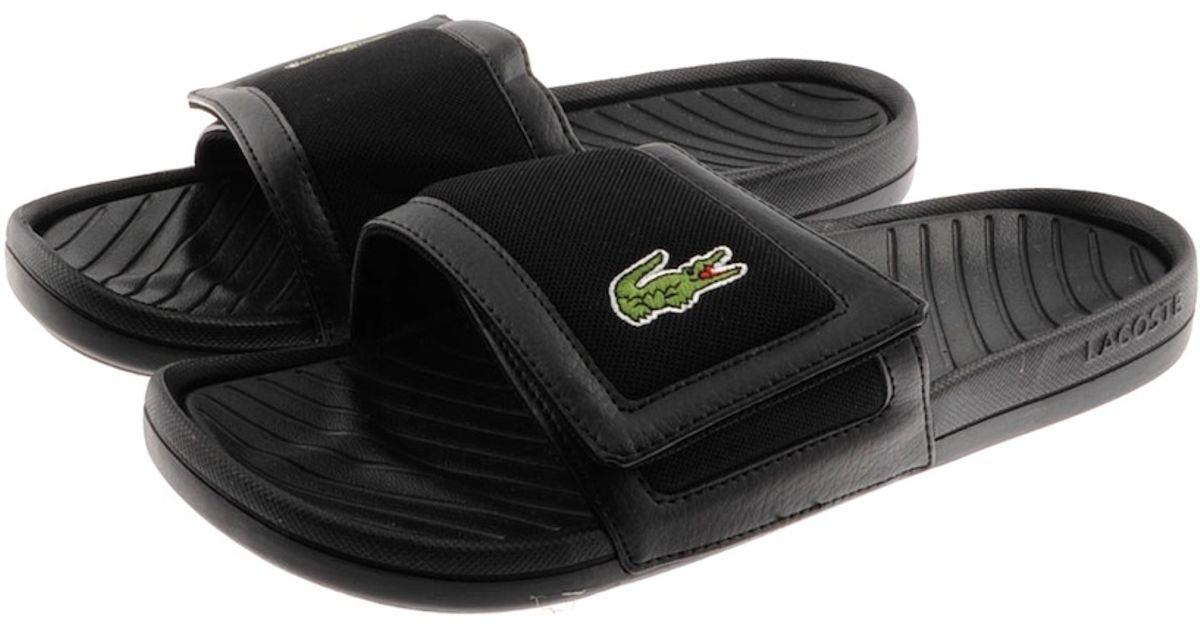 45089f8a8a0f6 Lyst - Lacoste Fynton Spm Flip Flops in Black for Men