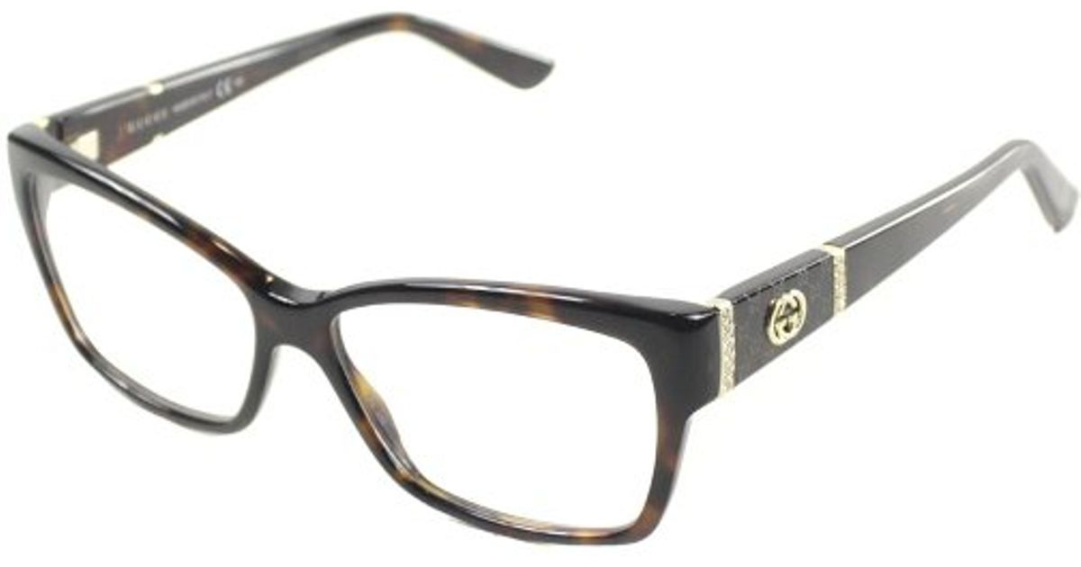 Gucci Gg 3559 Tvd Dark Havana Cat-eye Plastic Eyeglasses ...