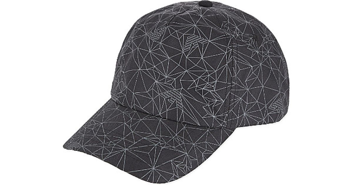 b48a7975 Armani Jeans Geometric-printed Cap - For Men in Gray for Men - Lyst