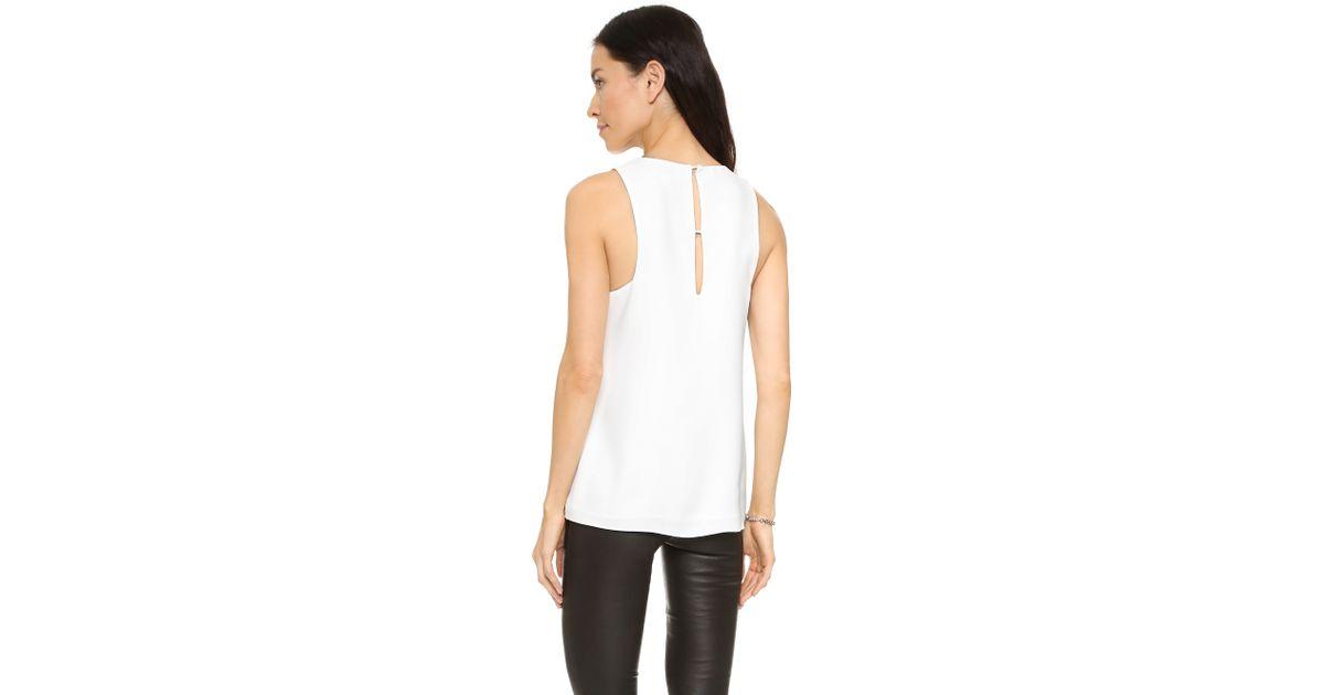 681877f7c684a Lyst - Cooper   Ella Kara Shell Top in White