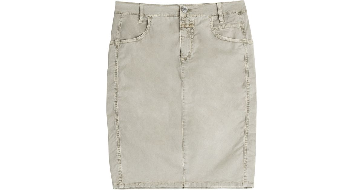 Closed Denim Skirt - Beige in Blue | Lyst