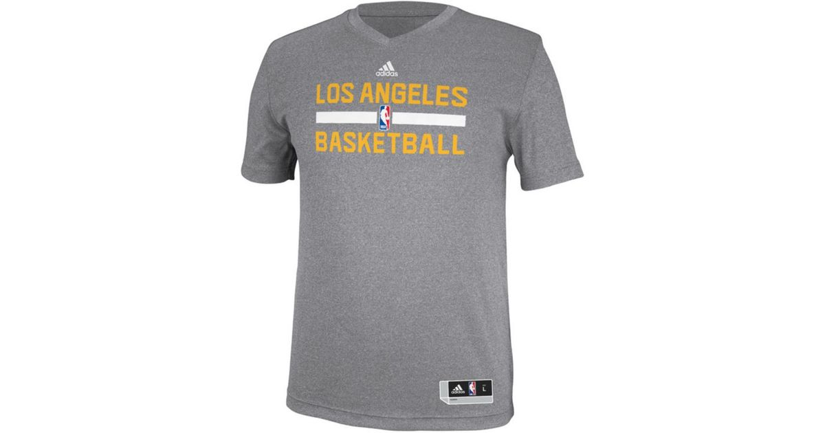 the latest bbf5e c0604 Adidas Gray Men'S Los Angeles Lakers Practice Graphic T-Shirt for men