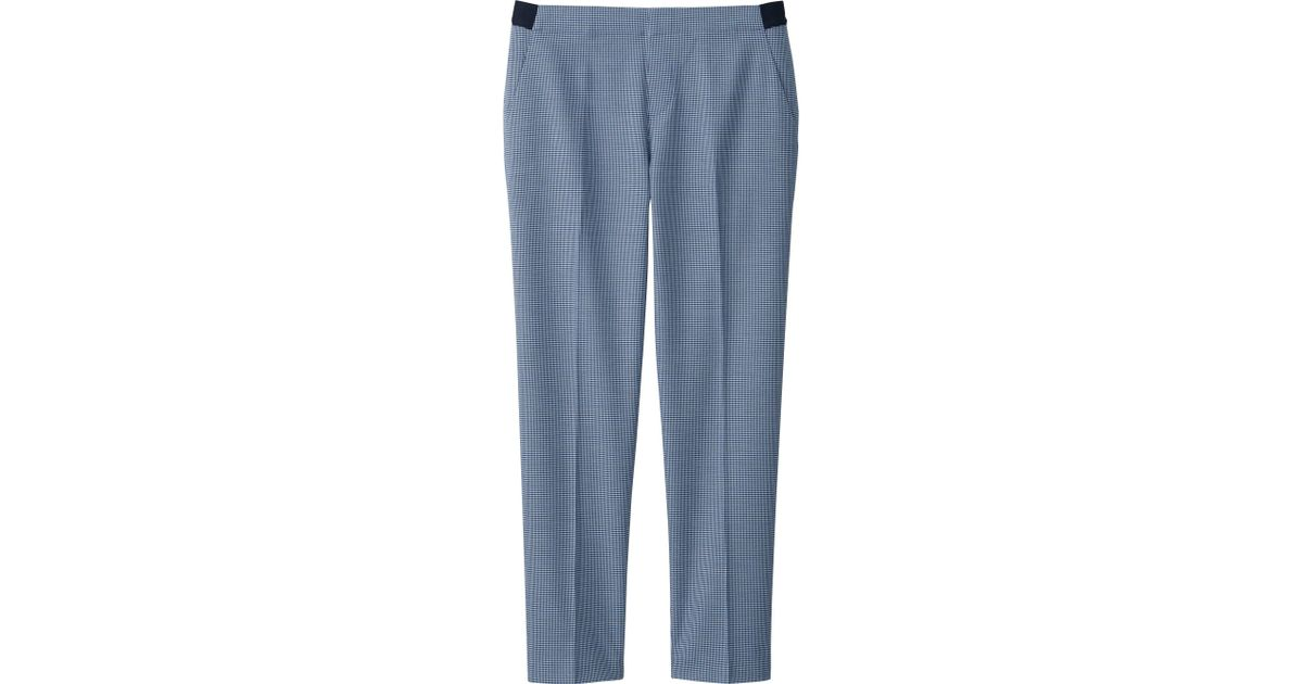 Perfect WOMEN SMART STYLE ANKLE LENGTH PANTS BLUE Large