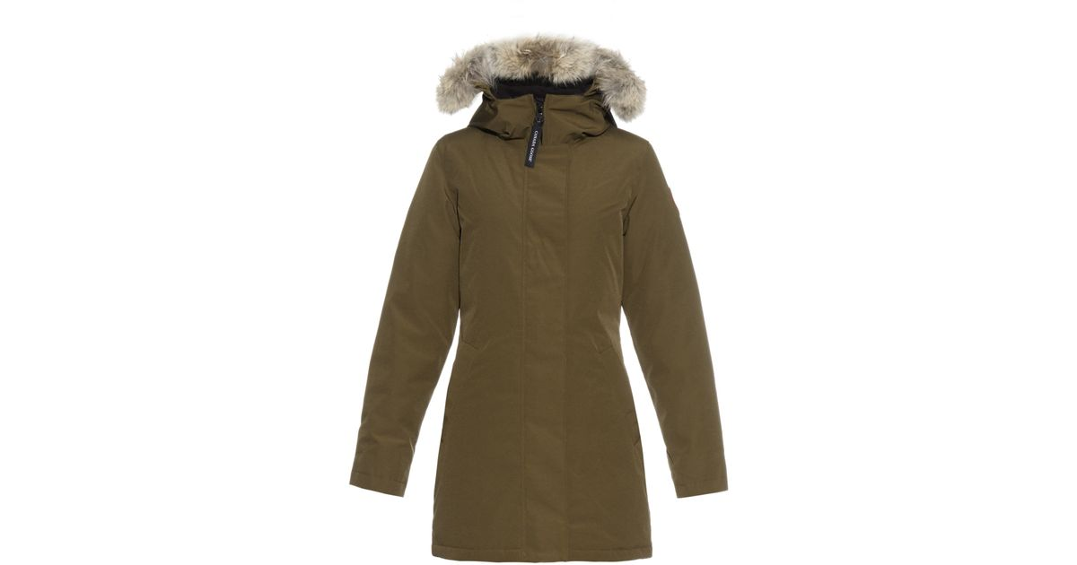 Canada Goose hats outlet store - Canada goose Victoria Fur-trimmed Down Parka in Natural (KHAKI) | Lyst