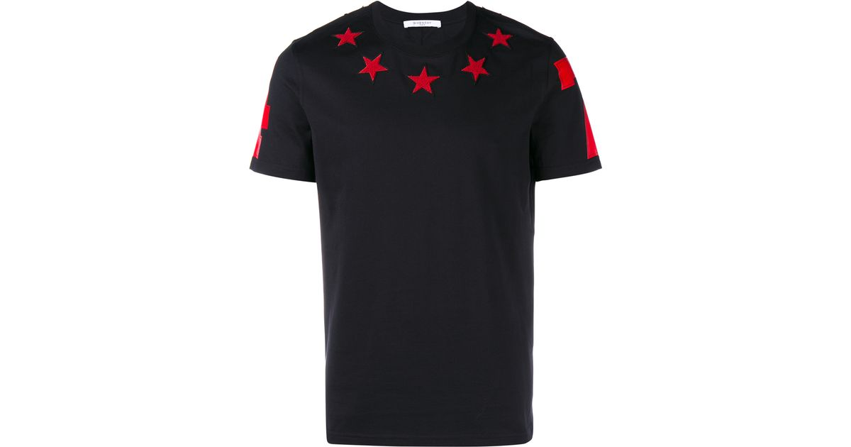 3d159ba5d68c50 Givenchy Star Embroidered T-shirt in Black for Men - Lyst