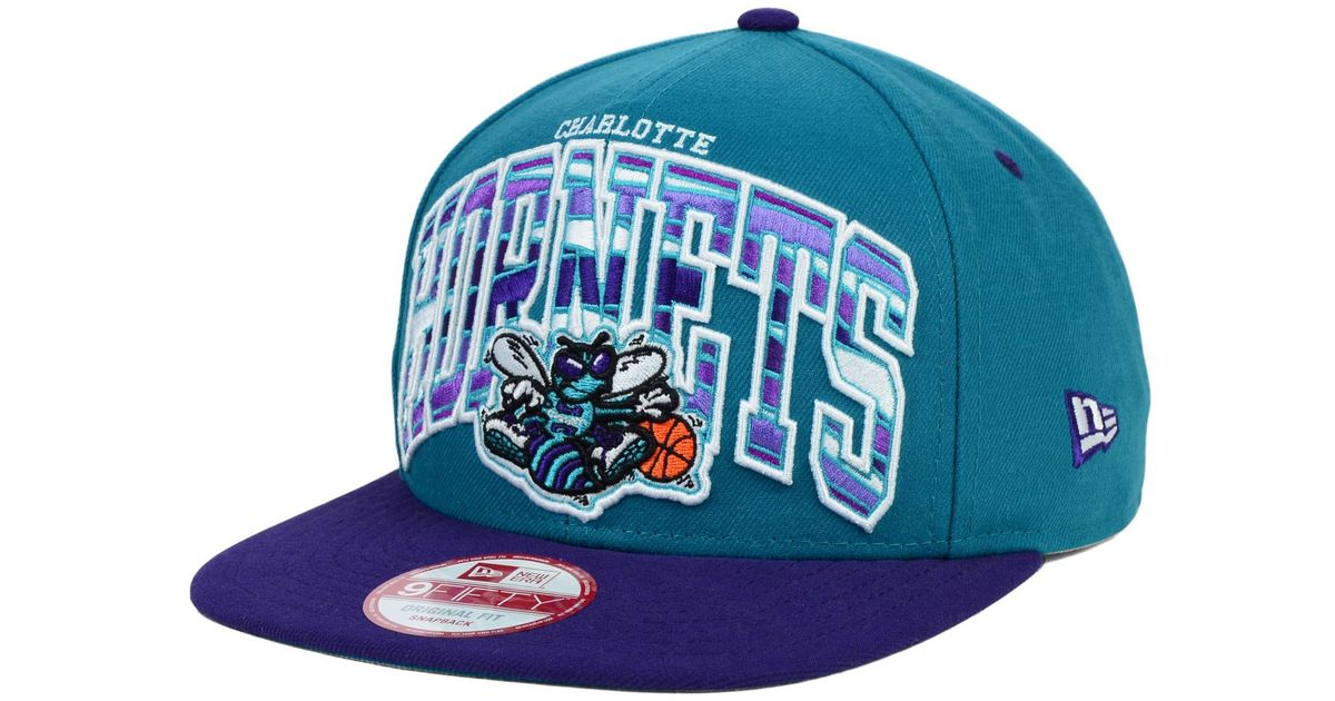 huge selection of 71ad7 c77cc Lyst - KTZ Charlotte Hornets Out Of Line 9fifty Snapback Cap in Blue for Men