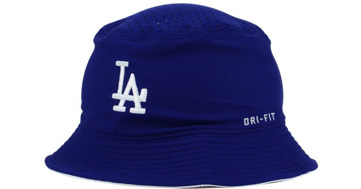 428ba2e2f Nike Blue Los Angeles Dodgers Vapor Dri-fit Bucket Hat for men