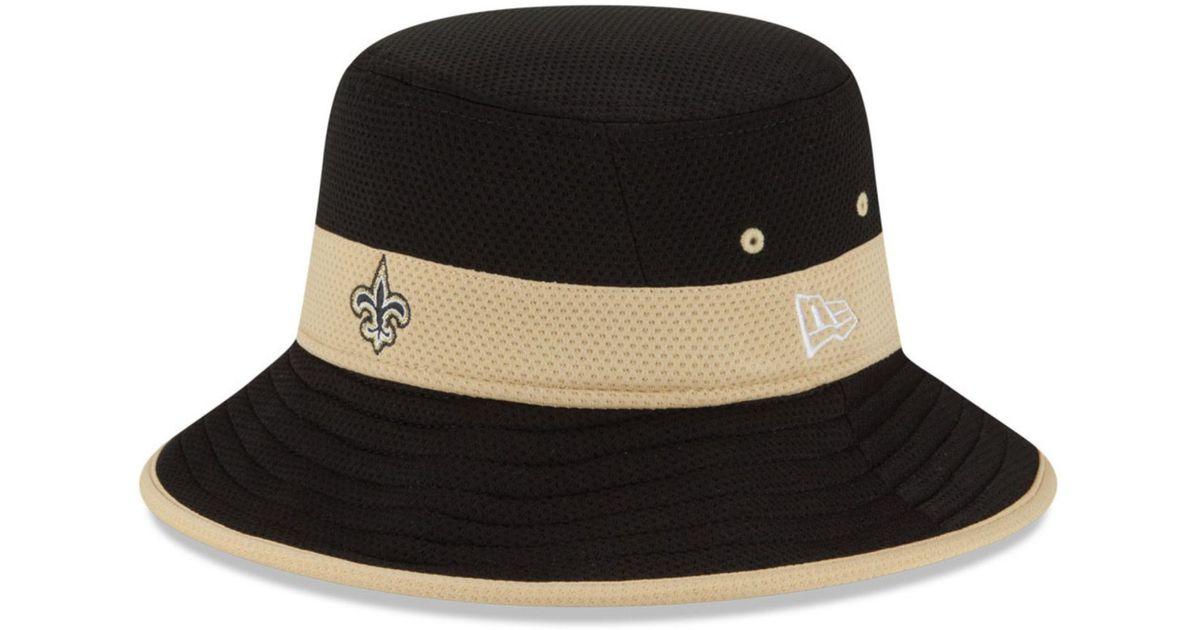 official photos ea3ea 85078 KTZ New Orleans Saints Training Camp Reverse Bucket Hat in Black for Men -  Lyst