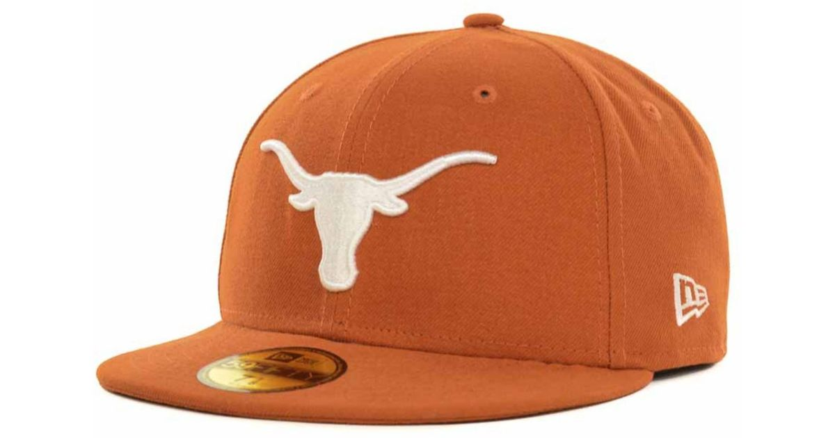 huge discount 683e4 3b500 ... fitted hat c3a6e 13626  shopping lyst ktz texas longhorns 59fifty cap  in orange for men 92ae1 d05e5