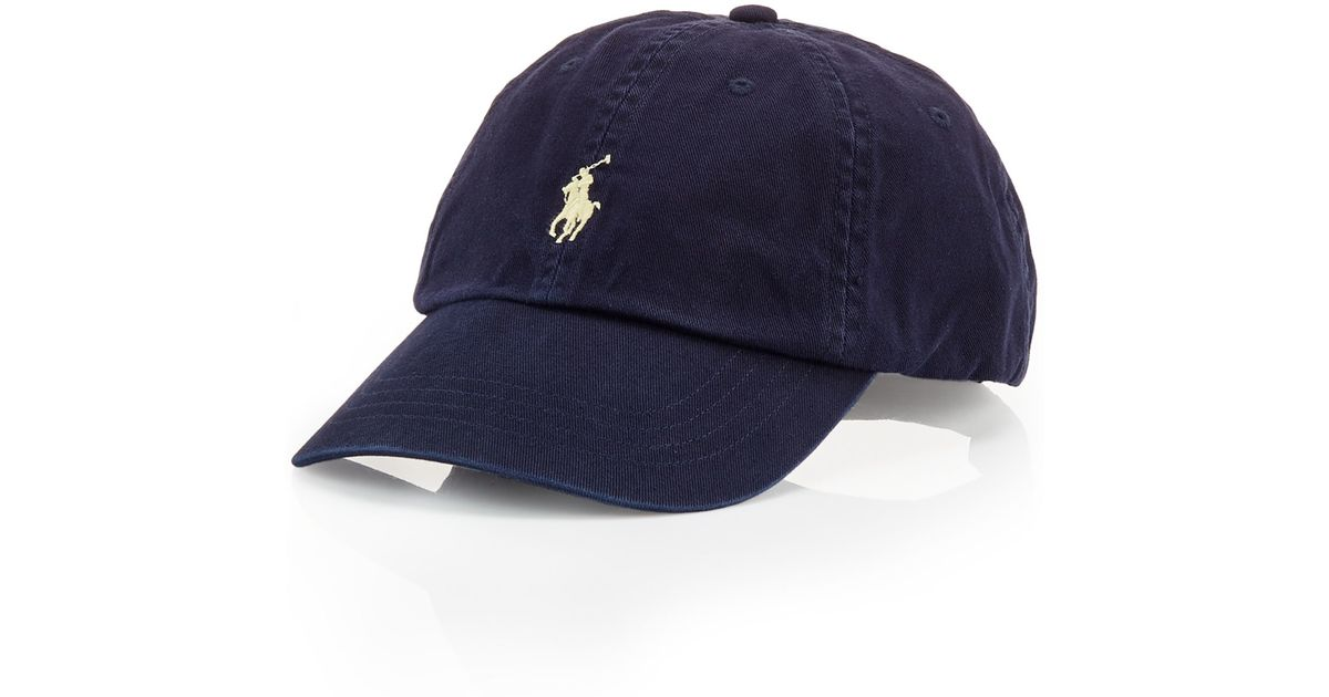 Lyst - Polo Ralph Lauren Classic Chino Sports Cap in Blue for Men cb1181656a7