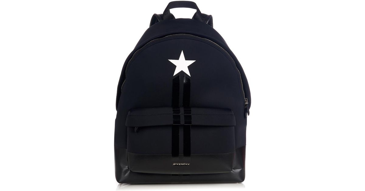 4042c4d07d Lyst - Givenchy Star And Stripes Neoprene Backpack in Black for Men
