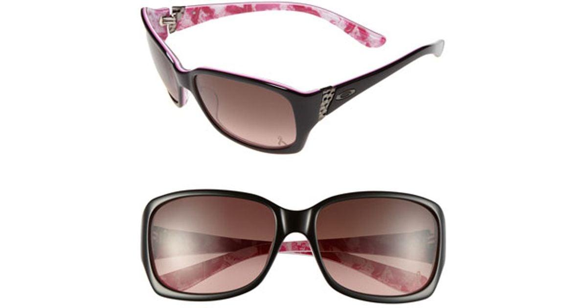 fa33efd86373b Lyst - Oakley  discreet - Breast Cancer Awareness Edition  56mm Sunglasses  - Polished Black in Black