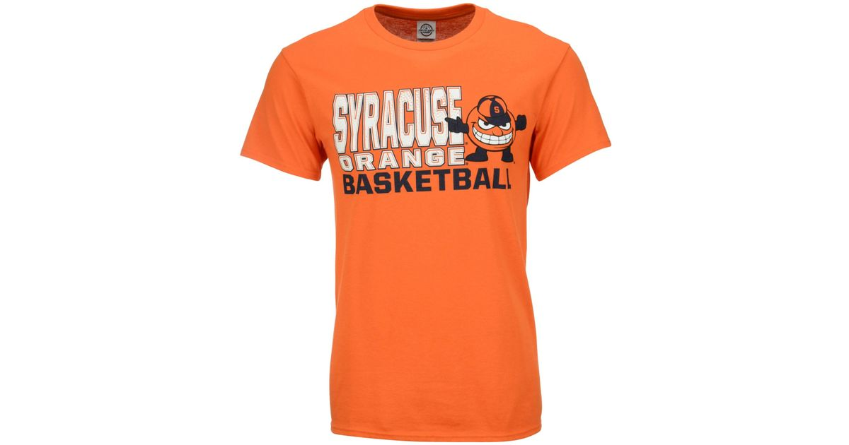 Lyst j america men 39 s syracuse orange basketball stack t for Syracuse orange basketball t shirt
