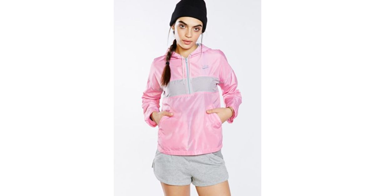 73d13d071d65 Lyst - Urban Outfitters Vintage Bubble Gum Nike Windbreaker Jacket in Pink