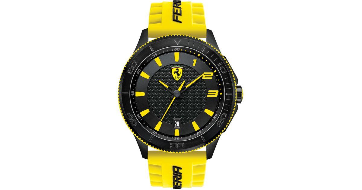 image yellow dial officine watch ferrari edition catalog chronograph panerai men occurred granturismo limited error mens an