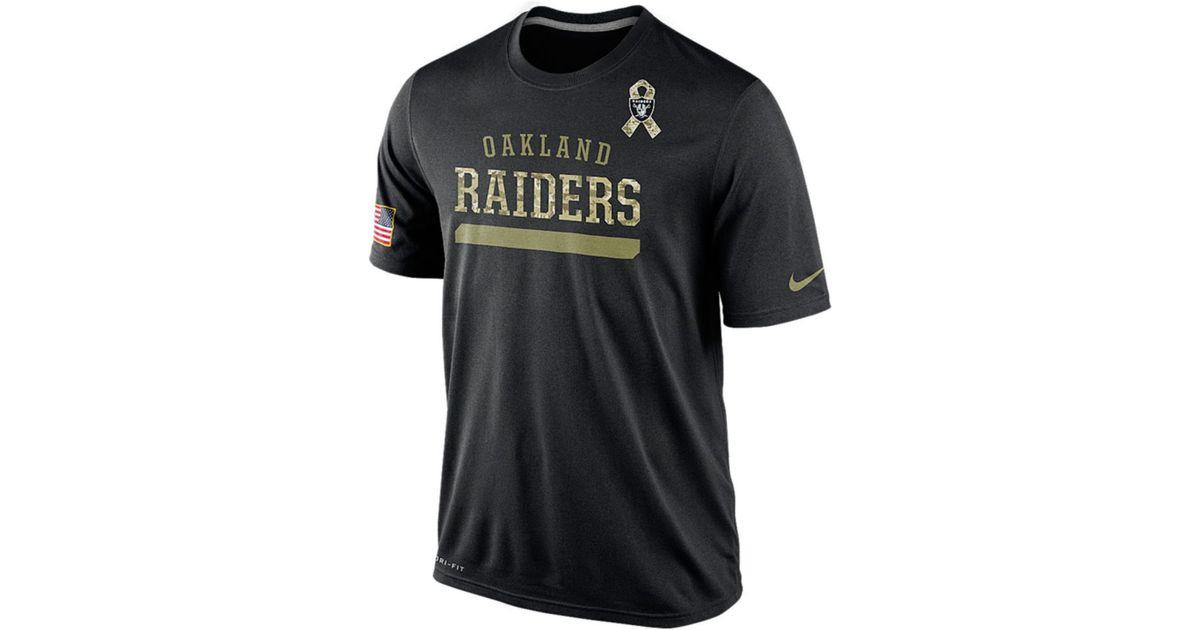 Lyst - Nike Men S Short-Sleeve Oakland Raiders Salute To Service Legend  T-Shirt in Black for Men 9e5ceeeb0