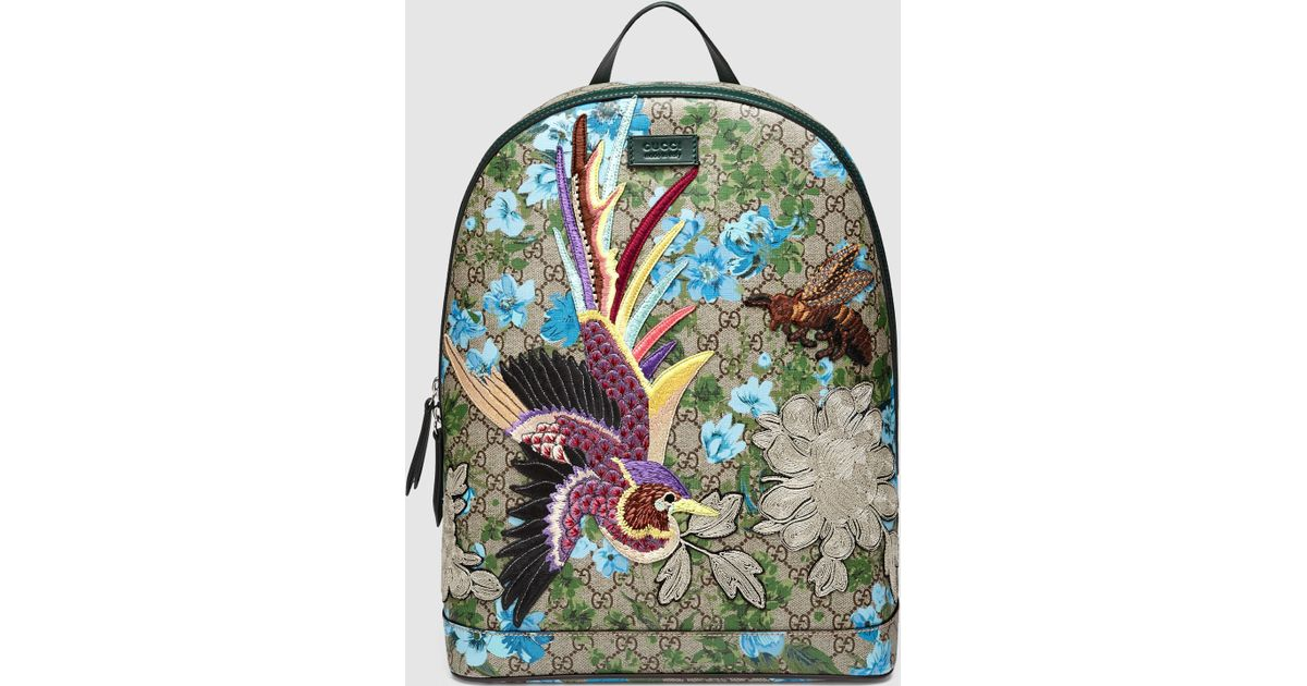 7f9d1ea8a8b Gucci Xl Gg Floral Print Backpack for Men - Lyst