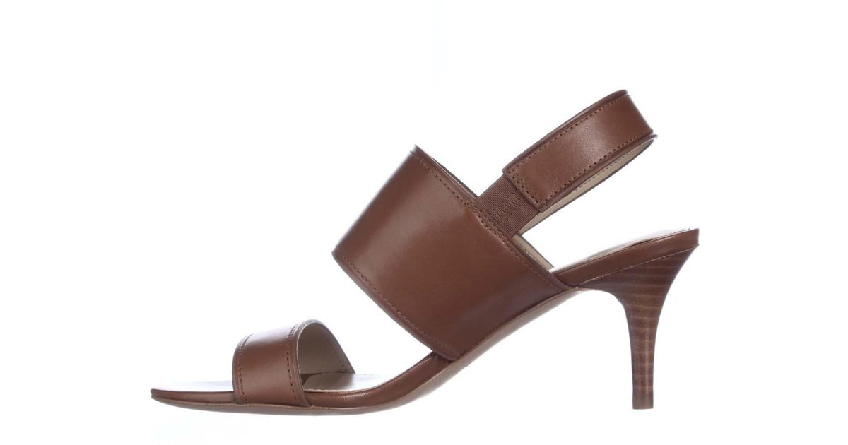 Coach Marla Turnlock Slingback Dress Sandals in Brown | Lyst