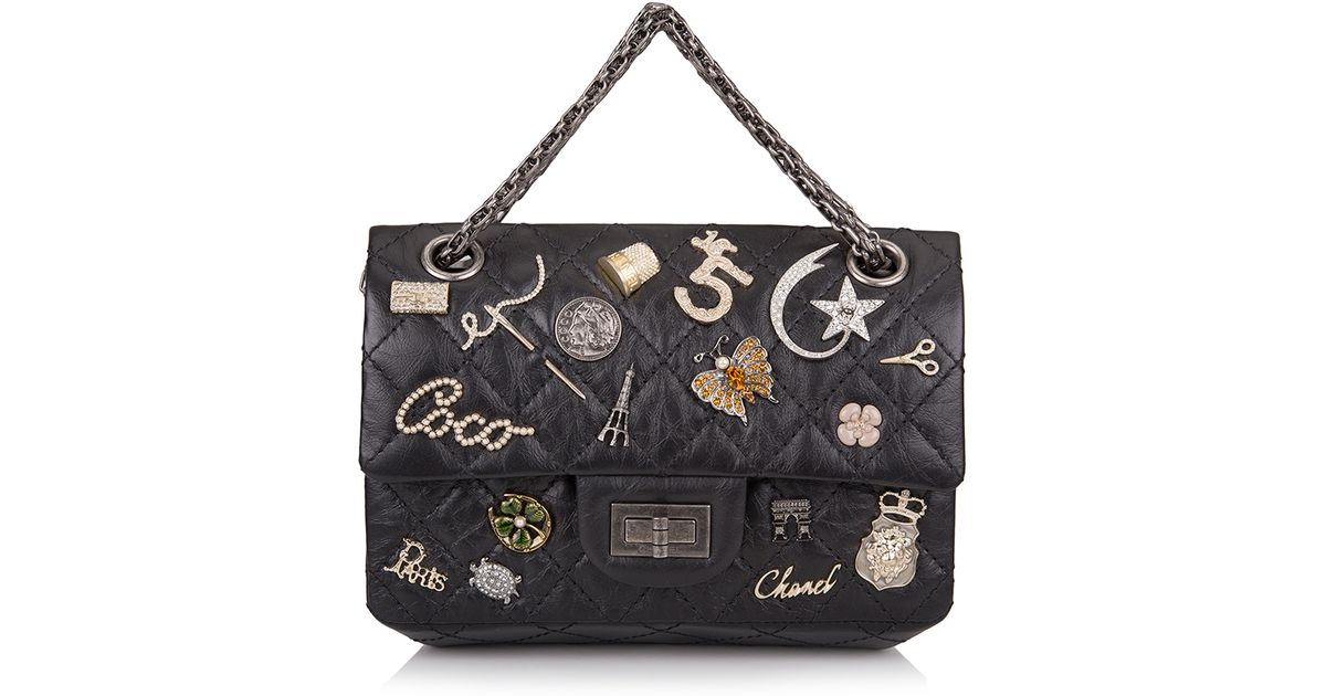 7de930994b52 Lyst - Madison Avenue Couture Runway Edition Chanel Black Aged Calfskin  Reissue 2.55 Lucky Symbol 224 Flap Bag in Black