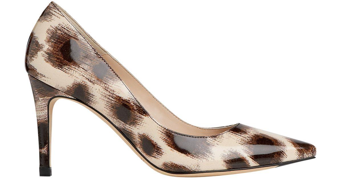 6eda31d436f2 L.K.Bennett Floret Leather Court Shoes in Black - Lyst