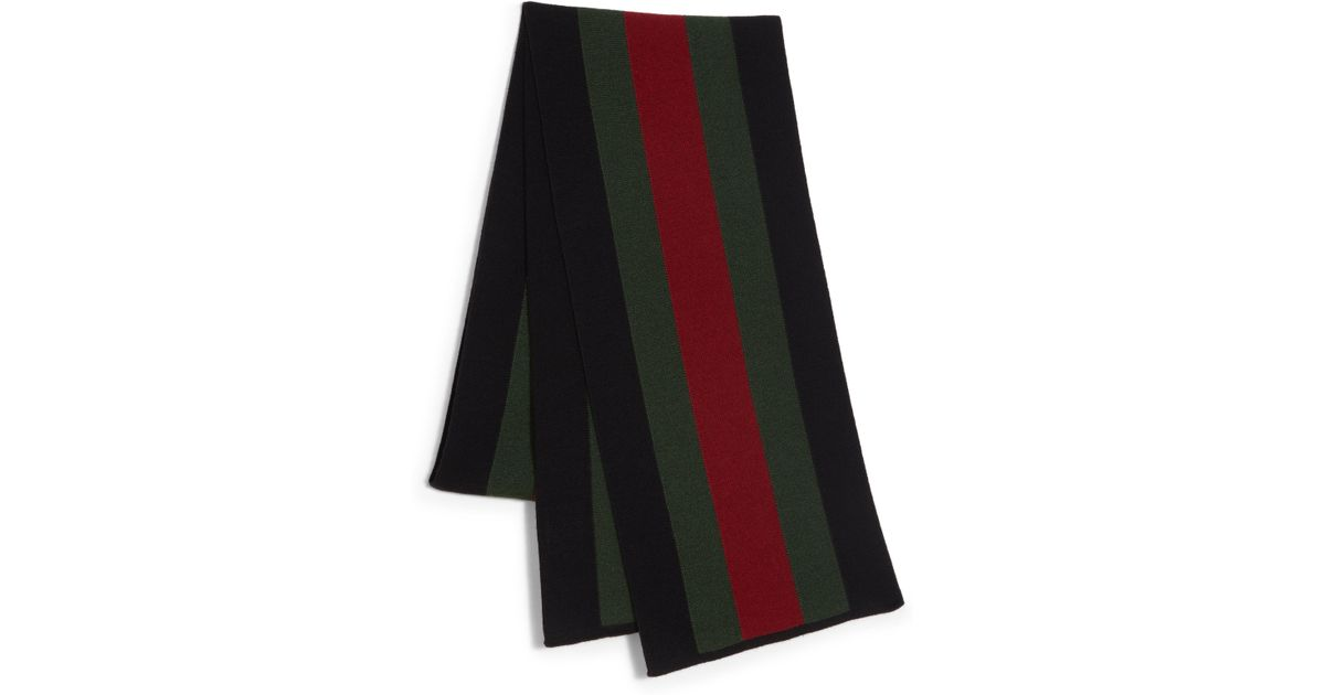 c1553b5d3a680 Gucci Signature Web Knit Scarf in Black for Men - Lyst