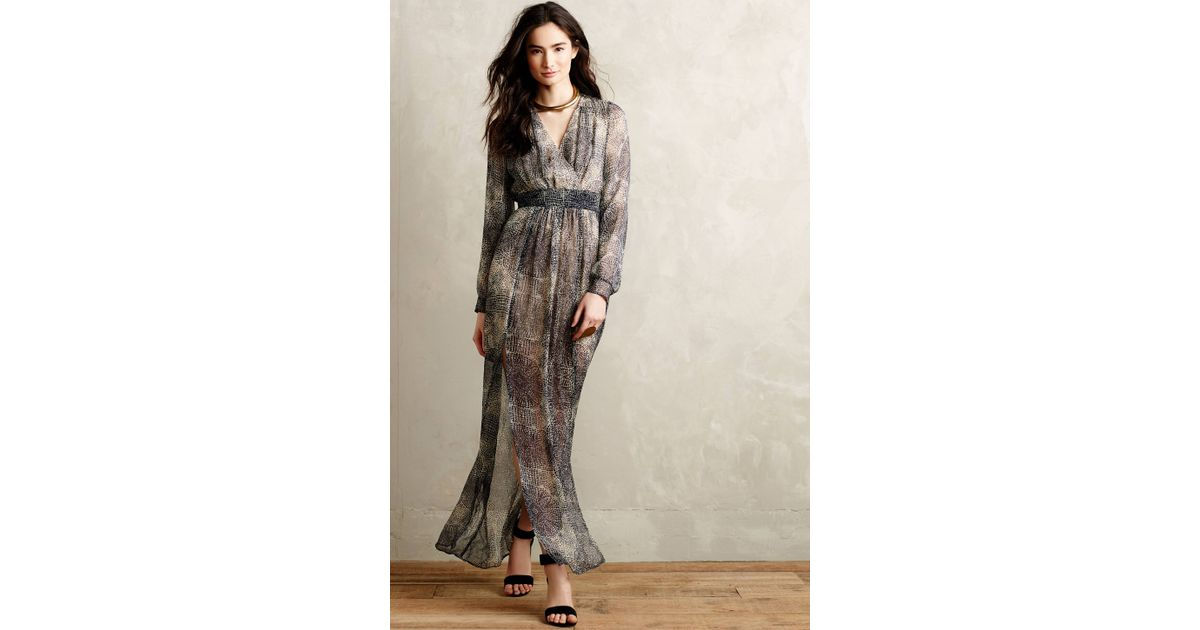 Cynthia vincent silk maxi dress