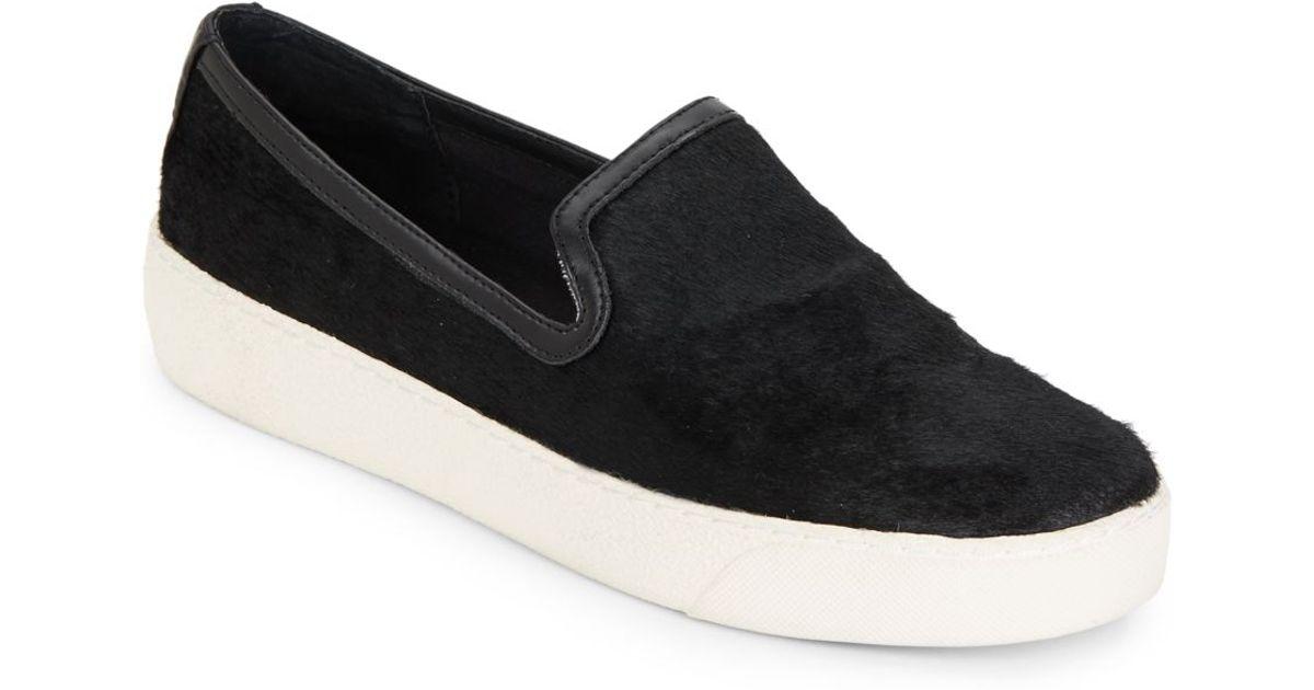 ab39f532f6c572 Lyst - Sam Edelman Becker Calf Hair Slip-on Sneakers in Black