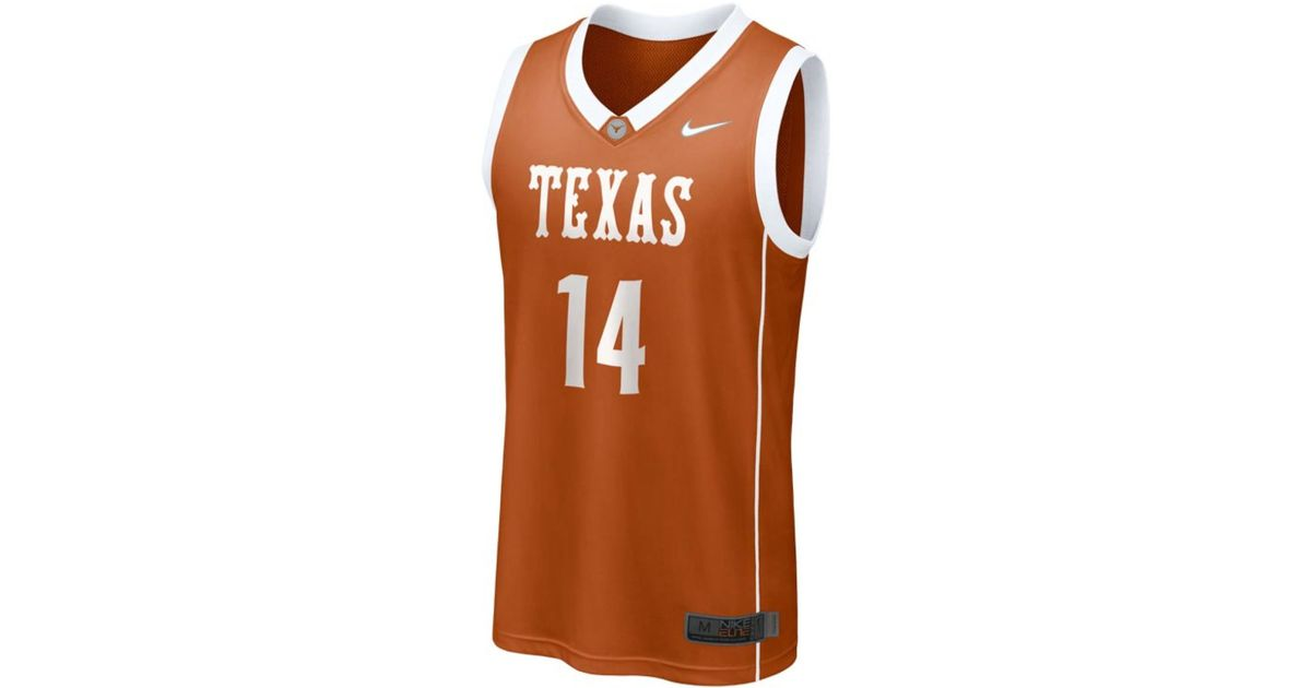 buy popular 58305 65bf1 Nike Orange Men'S Texas Longhorns Replica Basketball Jersey for men