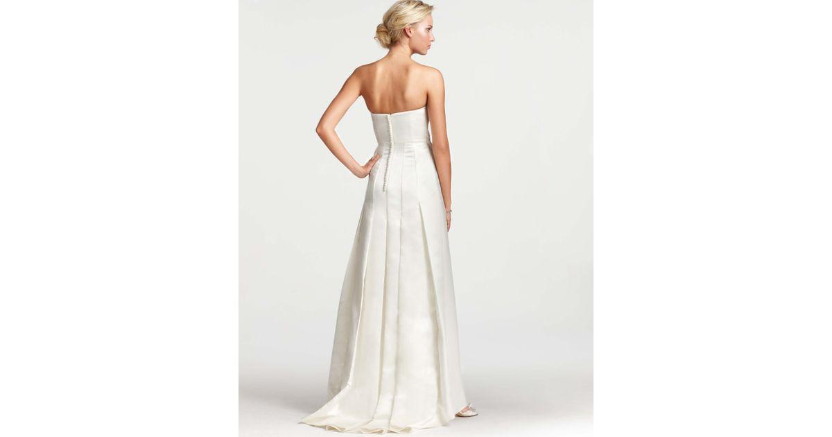 Ann Taylor Wedding Gowns: Ann Taylor Layla Duchess Satin Strapless Wedding Dress In