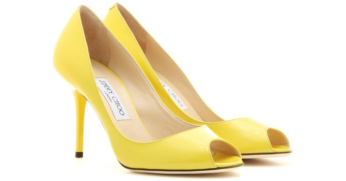 Yellow Peep Toe Heels