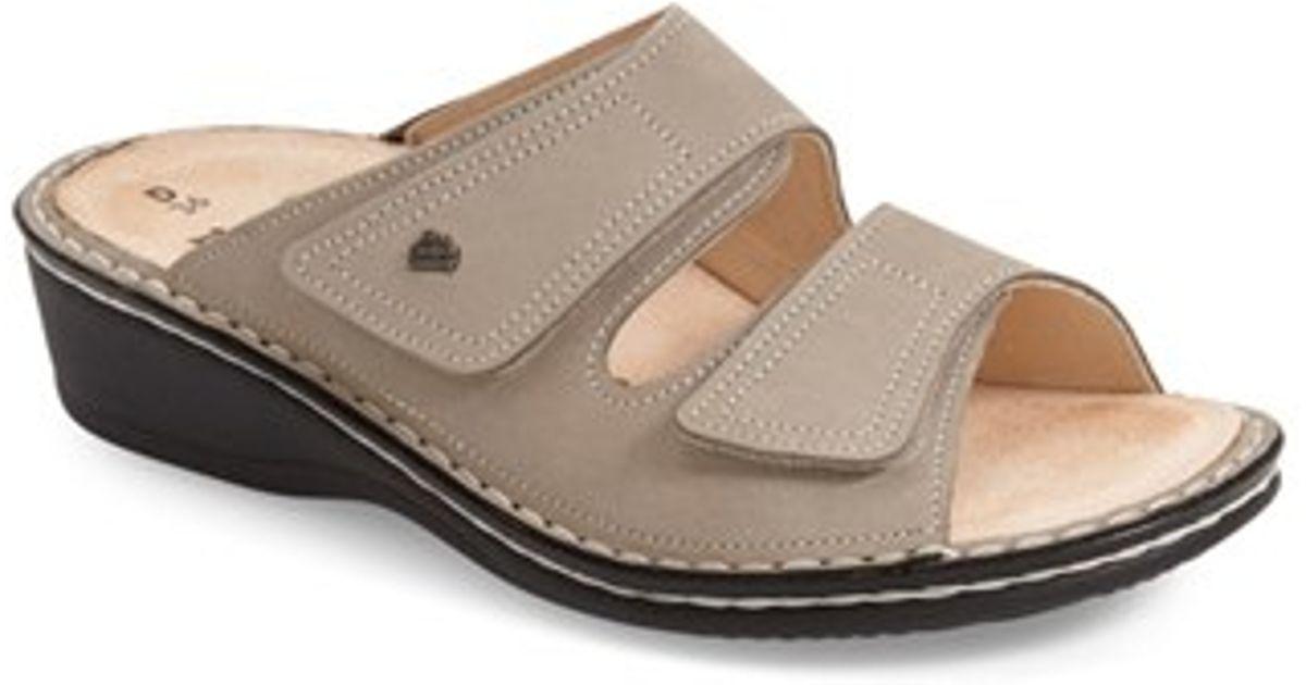 finn comfort finn 39 jamaica 39 sandal in gray lyst. Black Bedroom Furniture Sets. Home Design Ideas