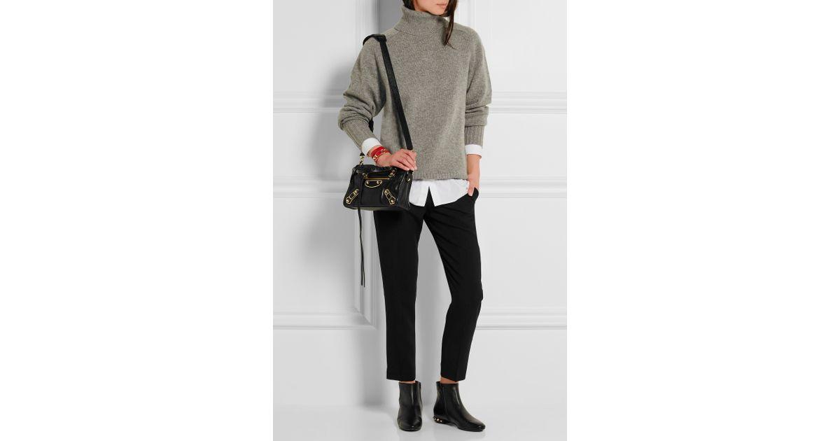 285c482d455c9 Balenciaga Classic Metallic Edge City Mini Textured-leather Shoulder Bag in  Black - Lyst