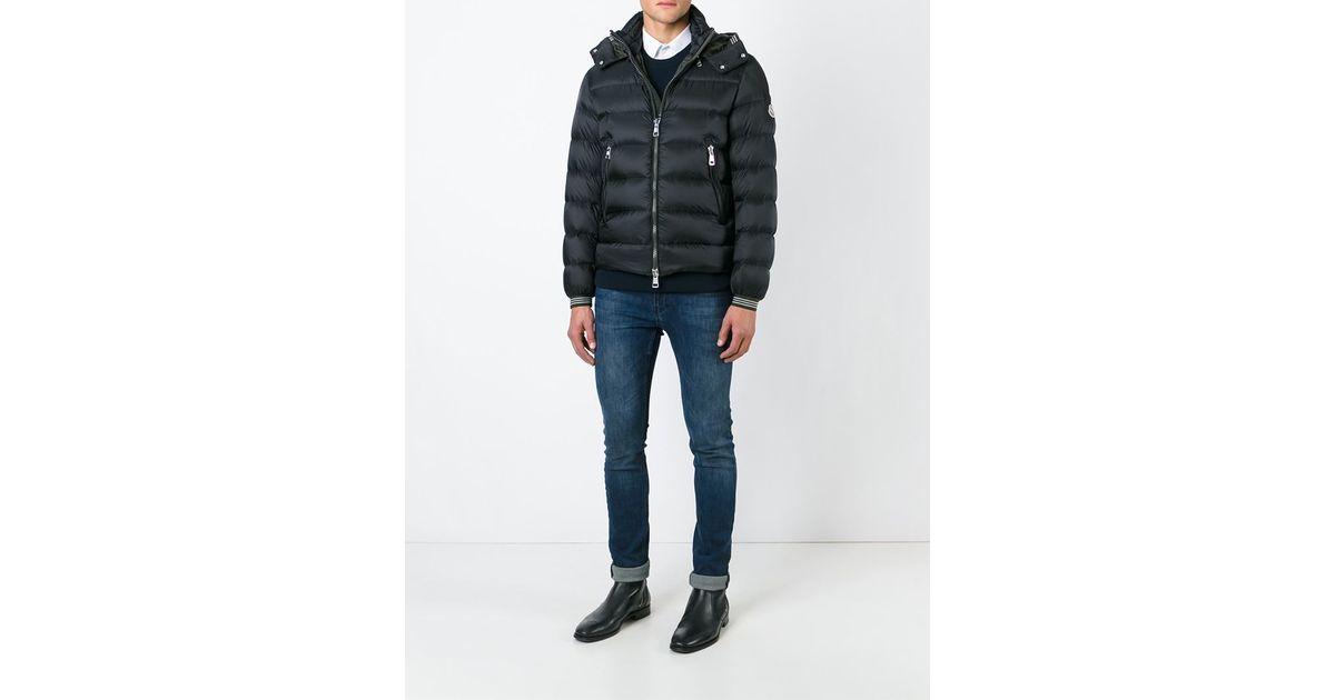 073a28e51 Moncler Black 'thoule' Padded Jacket for men