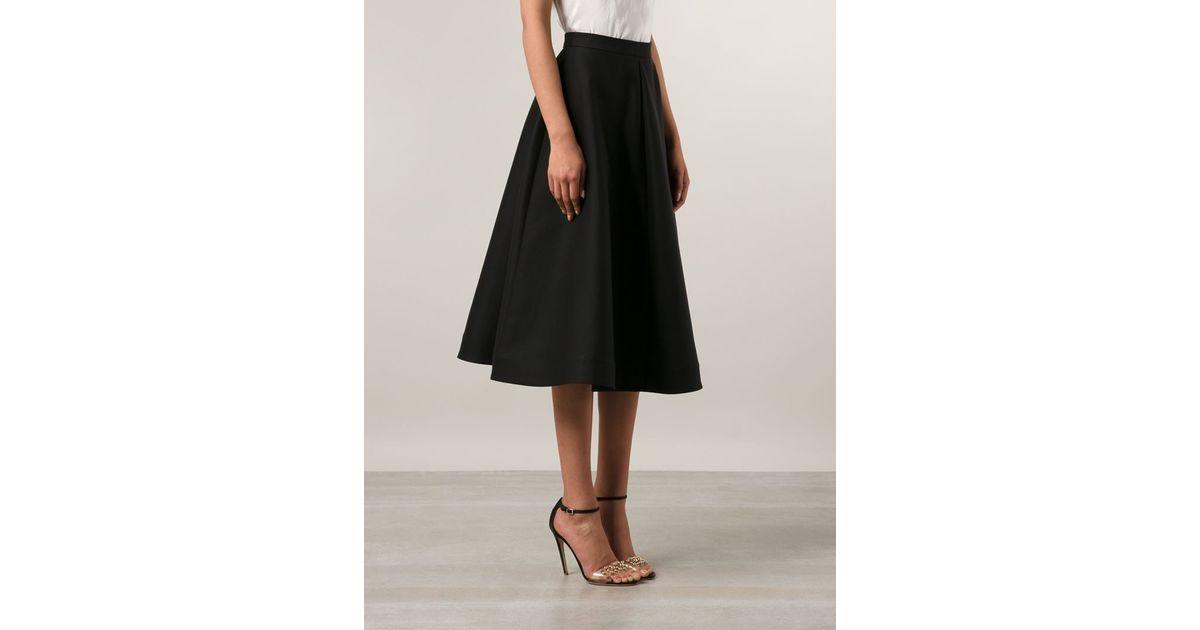 Vika gazinskaya Midi Circle Skirt in Black | Lyst