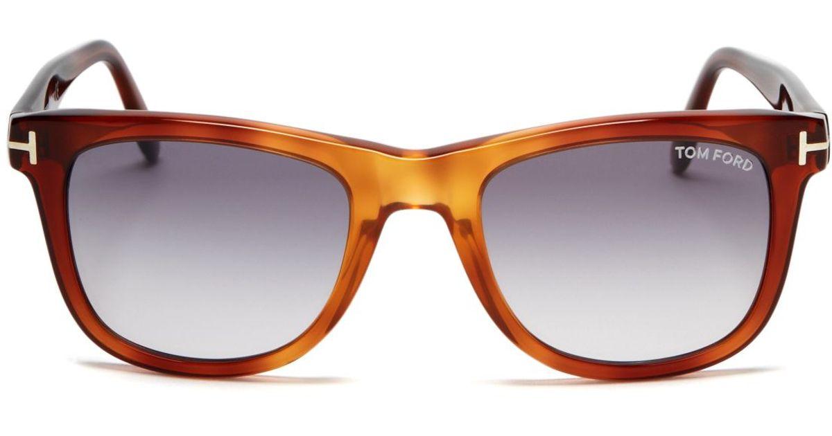 64e84c04614c Tom Ford Leo Wayfarer Sunglasses in Brown for Men - Lyst