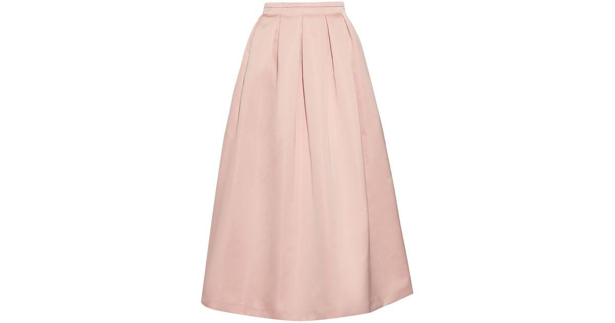 db34358b48 Rochas Pleated Duchess-satin Skirt in Pink - Lyst