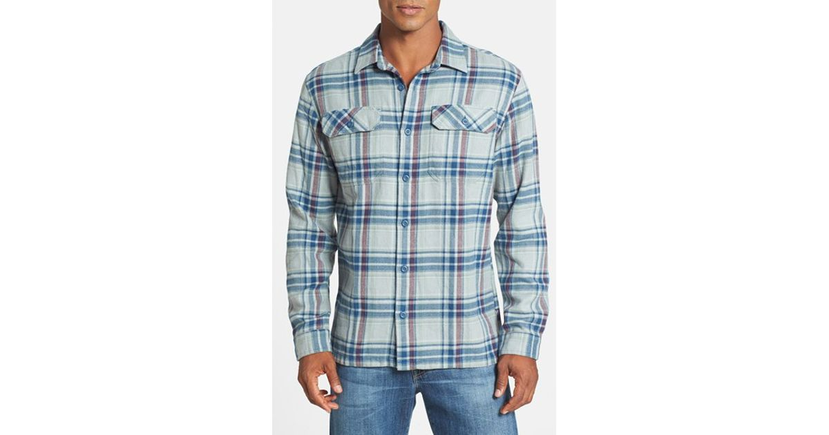 4d13048c30f8 Lyst - Patagonia  Fjord  Regular Fit Organic Cotton Flannel Shirt in Blue  for Men