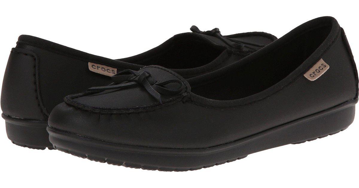 cc4574e89 Lyst - Crocs™ Wrap Color Lite Ballet Flat in Black