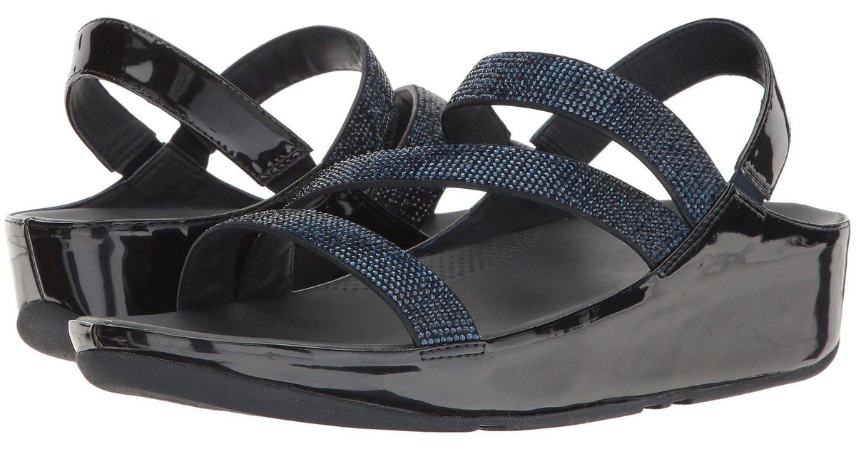 f23652888ccd0e Lyst - Fitflop Crystall Z-strap Sandal in Blue