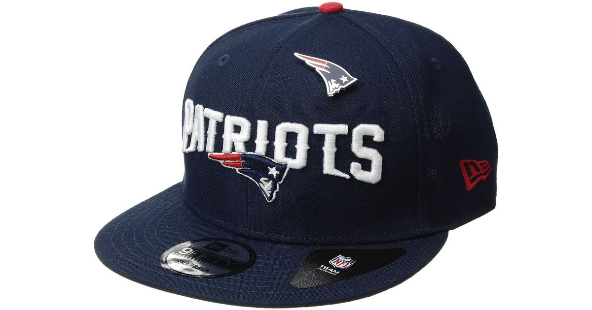 5661dce59e3 Lyst - Ktz New England Patriots Pinned Snap in Blue for Men