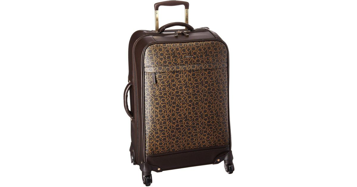 abcbae56ac Lyst - Calvin Klein Mulberry 25 Upright Spinner (brown) Pullman Luggage in  Brown