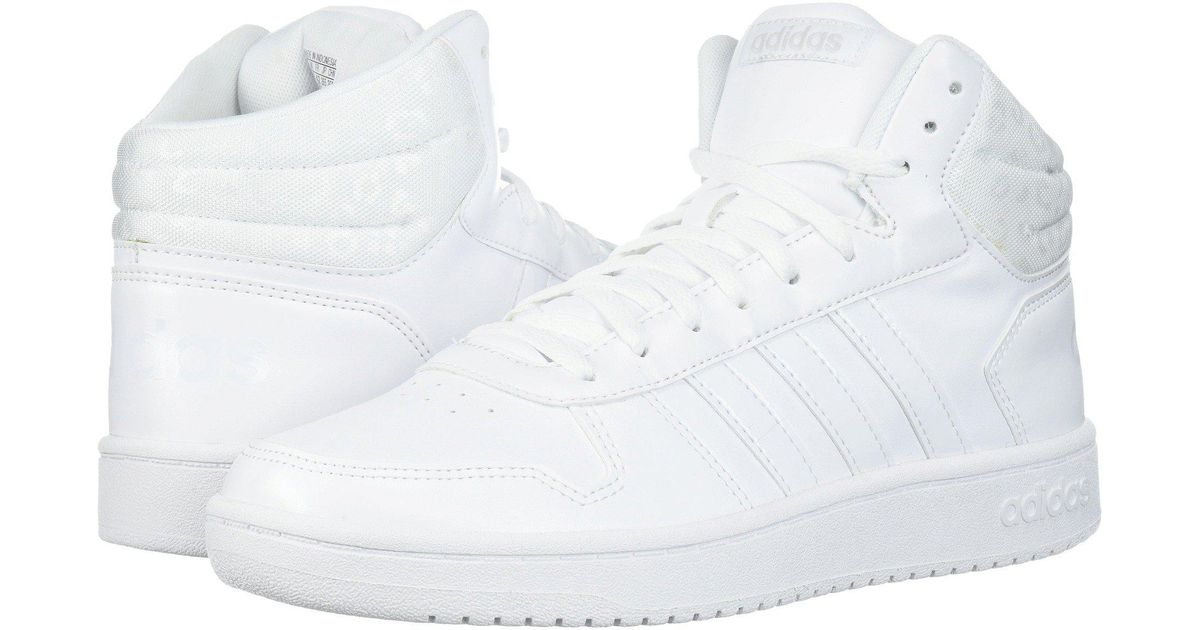 3e4c8009caf8 Lyst - adidas Hoops 2.0 Mid Sneakers (for Women) in White